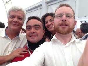 Nicola Affronti, Elisa Piombini e Roberto Bonacina con il Ministro Galletti