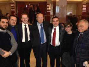 La delegazione Vogherese con il Presidente On Ciriaco De Mita (Parlamentare Europeo UDC)