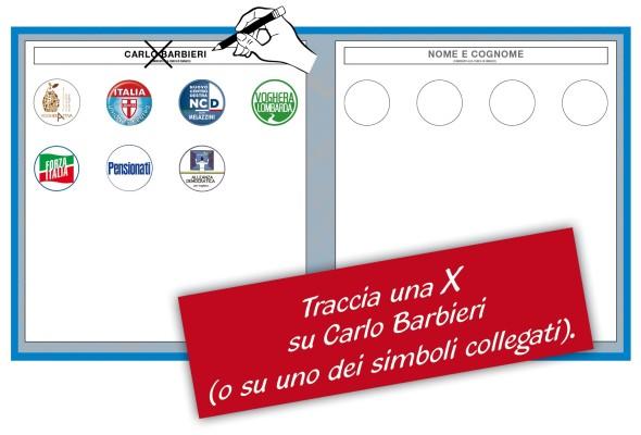 domenica 14 al ballottaggio vota Carlo BARBIERI