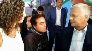 Il Presidente Affronti ed il Capogruppo Piombini con il Ministro dell'Ambiente GianLuca Galletti