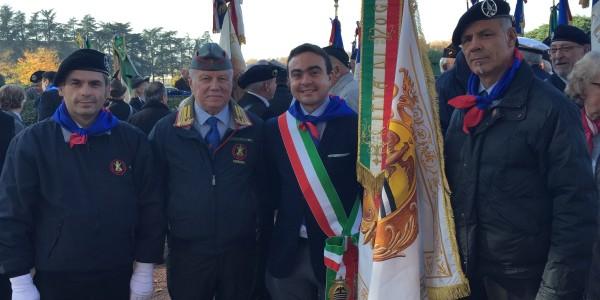 Il Presidente Affronti a Lione con l'Associazione del Fante per rendere omaggio ai caduti della Grande Guerra