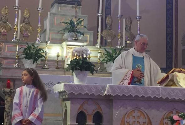 Nicola Affronti: Questa Mattina con I fedeli di Oriolo abbiamo salutato Mons Mario Balladore