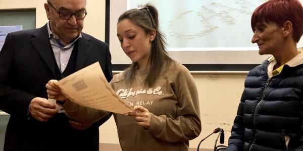 """Il Presidente Affronti alla consegna della borsa di studio """"Giovanna Bertelegni"""""""