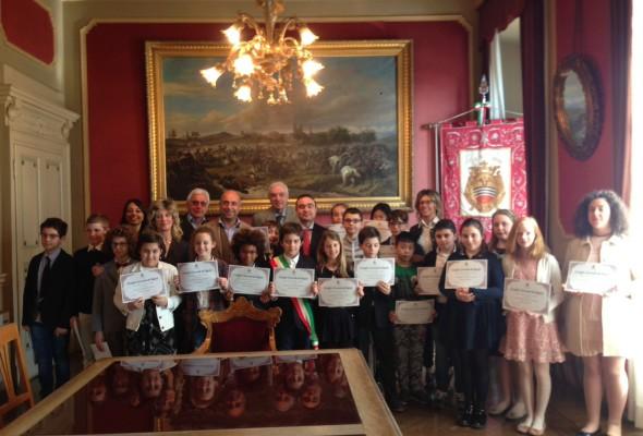 Consiglio Comunale dei Bambini con gli alunni della classe V dell'Istituto Santa Caterina