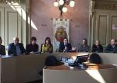 conferenza stampa di presentazione dei Vincitori del concorso di Poesia con il Presidente  Affronti