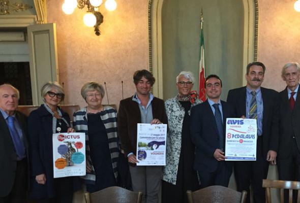 conferenza stampa per presentare PEDALAVIS e camminata STOP ICTUS del 21 Maggio con il Presidente Affronti e l'assessore Geremondia