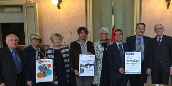 conferenza stampa per presentare PEDALAVIS e camminata STOP ICTUS