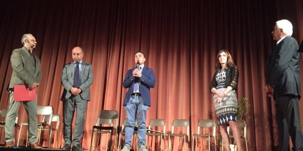 Il Presidente Affronti alla premiazione dei vincitori Concorso Internazionale di Poesia Città di Voghera