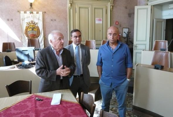 Consegnato il campo da Basket di via Bandirola – conferenza stampa in comune con l'Assessore Geremondia, il Presidente Affronti ed il Sindaco Barbieri