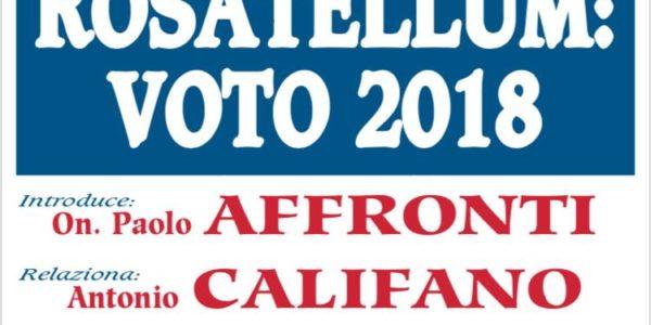 INCONTRO UDC ROSATELLUM – VOTO 2018 -27 NOVEMBRE ORE 21