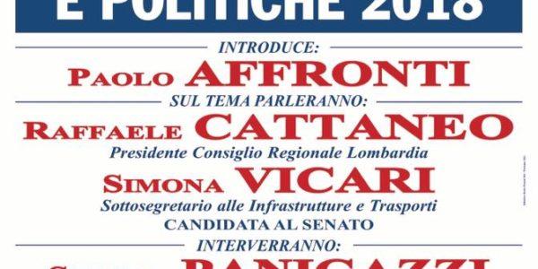 Manifestazione elettorale UDC a Voghera con CATTANEO ed il sottosegretario Vicari