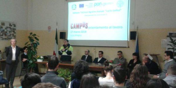 Il Presidente Affronti è intervenuto al Campus di Orientamento al Lavoro c/o ITAS GALLINI