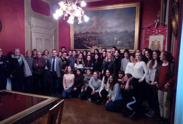 Il Presidente Affronti ha ricevuto in Comune gli studenti del liceo Kant di Leinfelden ospiti del liceo Galilei