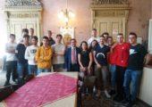 Gli alunni dell'Istituto Santa Chiara in visita a Palazzo Gounela accolti dal Presidente Affronti