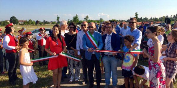 Inaugurata l'area verde del Parco Baratta