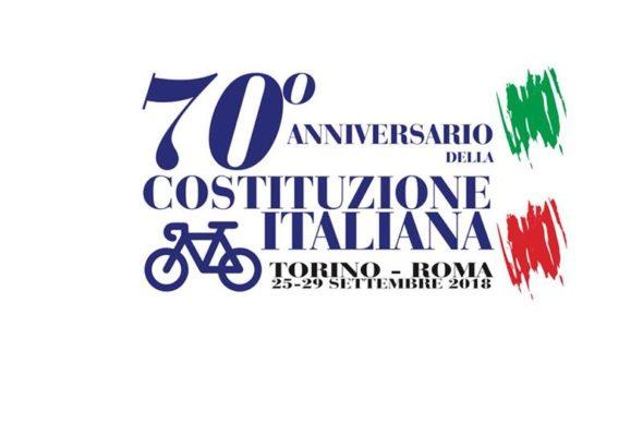 """Fa tappa a Voghera la Pedalata """"Sulle ali della libertà"""" Torino-Roma per celebrare i 70 anni della Costituzione"""