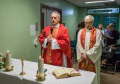 in Ospedale messa con il vescovo Viola per celebrare San Biagio