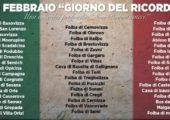 10 FEBBRAIO GIORNO DEL RICORDO DEI MARTIRI DELLE FOIBE – INTERVENTO DEL PRESIDENTE AFFRONTI