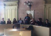 FRIDAY FOR FUTURE – Il Presidente Affronti riceve i ragazzi in sala consiliare con il Sindaco e l'Assessore Panigazzi