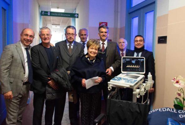 Donati al reparto di Nefrologia apparecchi e attrezzature per 24mila euro. Il Presidente Affronti alla cerimonia di ringraziamento