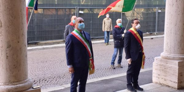 25 Aprile celebrato a Voghera dal Presidente Nicola Affronti, Sindaco, FIVL e ANPI
