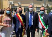 """L'assessore Regionale Gallera in visita in Ospedale """"Da noi c'è stato il cratere della bomba"""" – con lui il Sindaco ed Presidente Affronti"""
