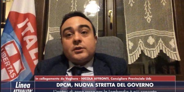 Nicola Affronti (Capogruppo UDC Provincia di Pavia) ospite a Linea Attualità