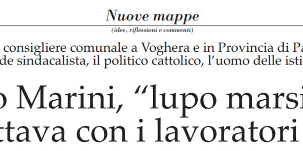 """l'articolo de """"IL POPOLO"""" in cui Nicola Affronti ricorda  il Presidente Marini"""